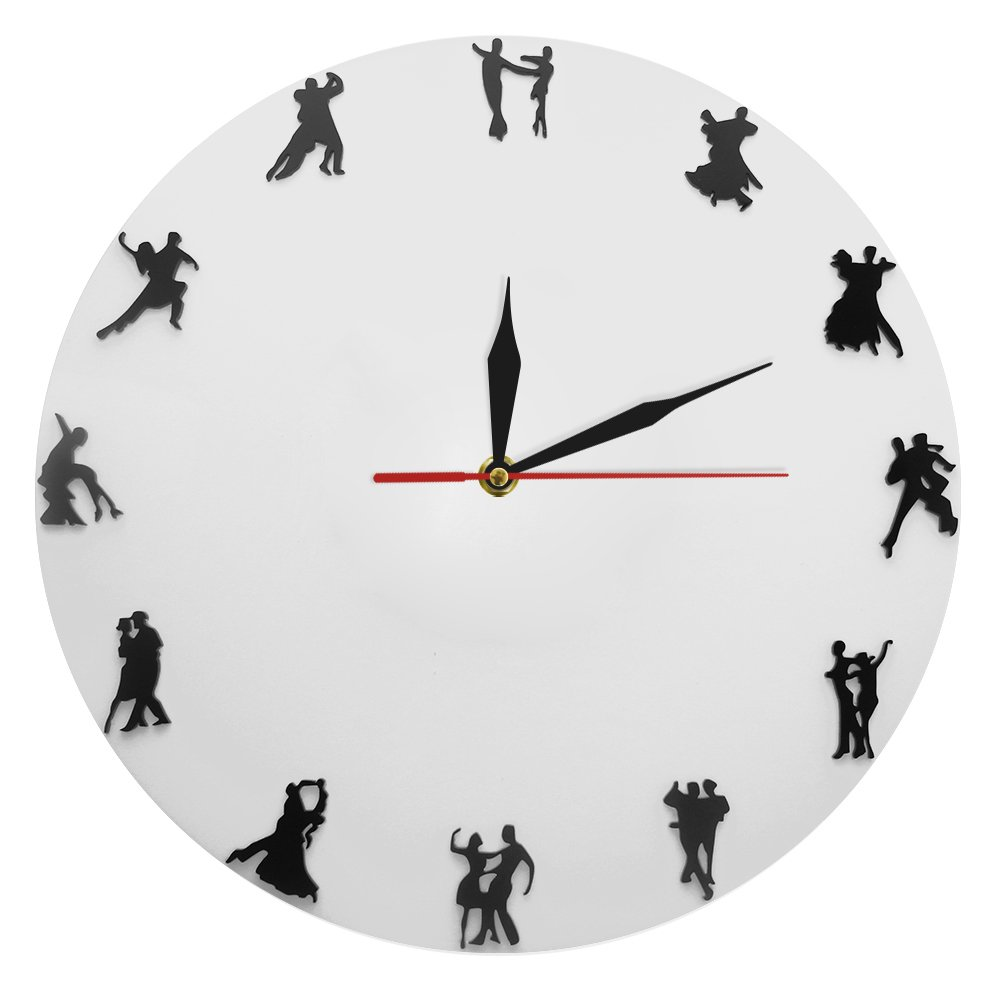 The Geeky Days Ballroom Dancing Wall Clock Dancing Couples Wall Watch Gift for Dance Lovers Social Dancing Dancers Modern Clock