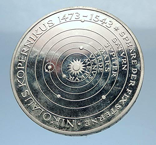 Germany Silver Coin - 1973 unknown 1973 GERMANY AR 5 Mark German COPERNICUS ANNIVERS coin Good Uncertified