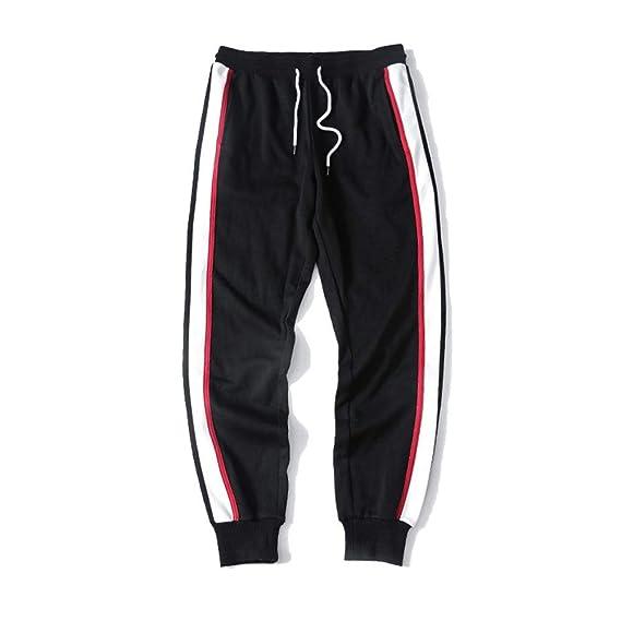 Pantalones de chándal para hombre Estudiantes adolescentes Costura ...