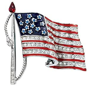 Crystal American Flag Pin by Miles Kimball