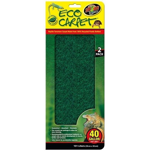 - Zoo Med Reptile Cage Carpet for 40 Gallon Tanks, 36 x 15-Inches