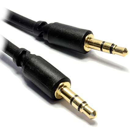 Pro 3,5 mm Estéreo Delgado Enchufe Bajo Perfil Audio Cable Cable 3 m