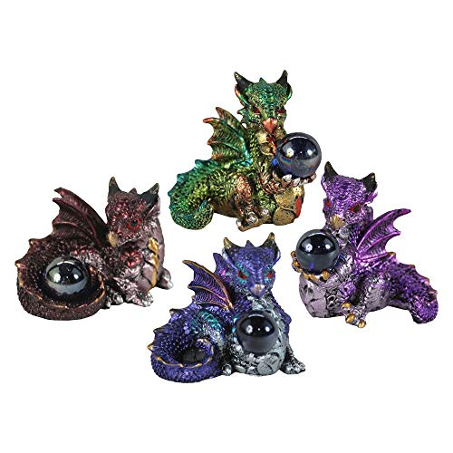Nemesis Hatchling Treasures Dragons Set of Four - Fantasy Collectible Figurines
