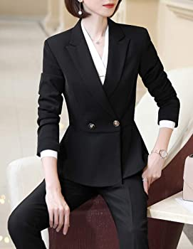 LISUEYNE Women Two Pieces Blazers Work Office Lady Suit Business Blazer Jacket/&Pant