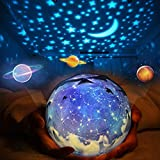 Star Night Light Projector Birthday Gifts for Kids,Universe Projection Lamp Romantic Rotating Moon Star Sea Birthday Projector Bedside Lamp for Bedroom Baby Nursery Party Decor - 5 Sets of Film