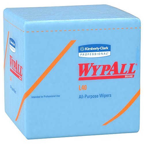 WypAll L40 Disposable Cleaning and Drying Towels (05776), Limited Use Towels, Blue, 12 Packs per Case, 56 Sheets per Pack, 672 Sheets Total by Kimberly-Clark Professional