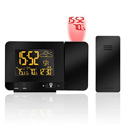 AOLVO Reloj Despertador con proyección Digital con ...