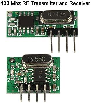 433 MHz RF transmisor y receptor inalámbrico superheterodyne UHF ...