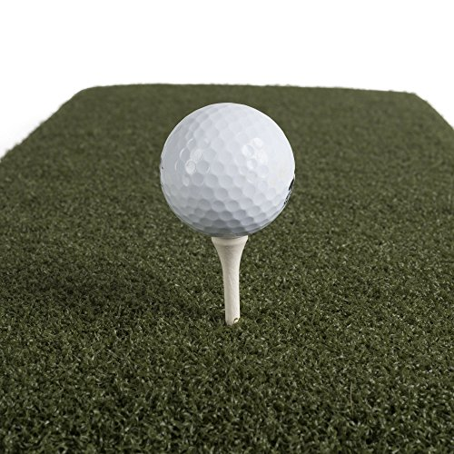 Real Feel Golf Mats The Original Country Club Elite 4 x4 Heavy Duty Commercial Practice Mat. The First Golf Mat That Takes A Real Tee and Lets You Swing Down Through,Simulator,Indoor, Outdoor Use