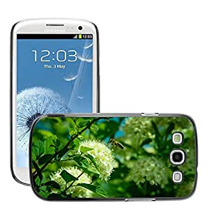 GoGoMobile Slim Protector Hard Shell Cover Case // M00124549 Bee Flower Flying Insect Insects // Samsung Galaxy S3 S III SIII i9300