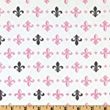 44'' Wide Metro Living Fleur De Lis Peony Fabric By The Yard