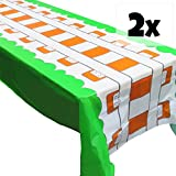 Train Track Tablecovers (2), Train Party Supplies, Great for Minecraft Parties, Birthdays