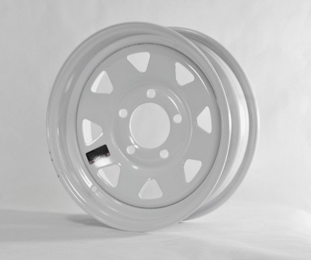 15'' x 5'' White Spoke Trailer Wheel (5-4.5'' Bolt Circle)