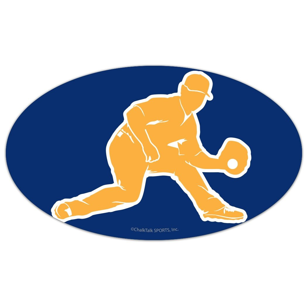 Amazon.com: ChalkTalkSPORTS Baseball Car Magnet | Baseball Fielder Silhouette | Red: Automotive