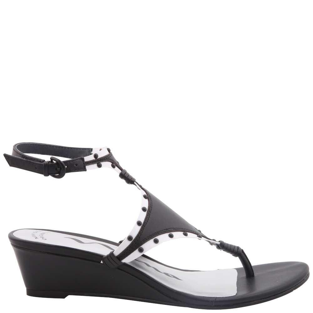 Nina Casual Womens vevilla Open Toe Casual Nina Platform Sandals B079Z3JV6C 6.5 M US|Black Nappa/White ae66b3