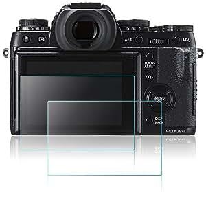 Protector de Pantalla para Cámara Fujifilm X-T1 X-T2, AFUNTA 2 Paquetes Anti-Arañazos de Cristal Templado óptico para Fuji XT1 XT2