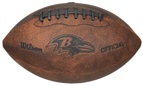 NFL Baltimore Ravens Vintage Throwback Football, 9-Inches]()
