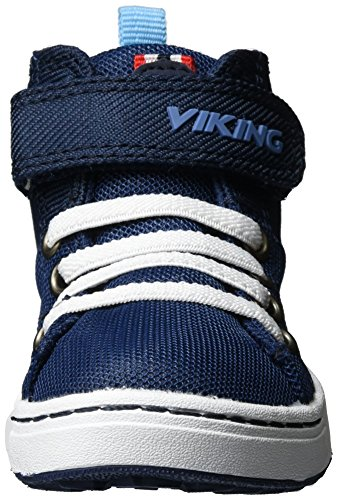 Viking Unisex-Kinder Frogner Kids Mid Outdoor Fitnessschuhe Blau (Navy/White)