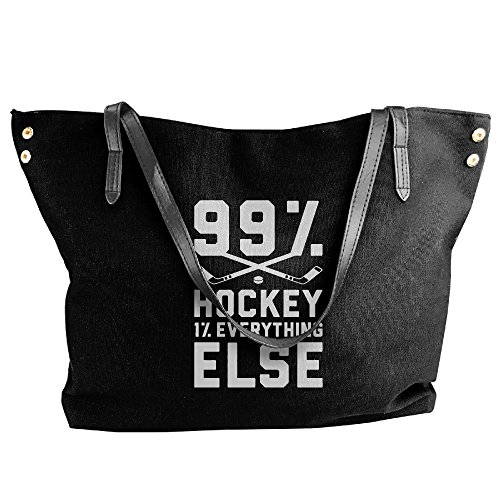 Else 99 Women's Large Handbags Canvas Everything 1 Hockey Shoulder Handbag Black Tote zx7Awqx