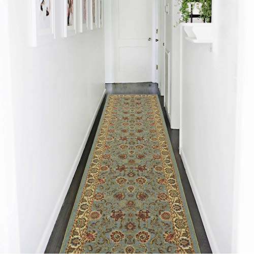 Sage 2'6 X 10' Runner - Ottomanson Otto Home Collection Persian Style Oriental Modern Design Runner Rug Hallway Runner, 31