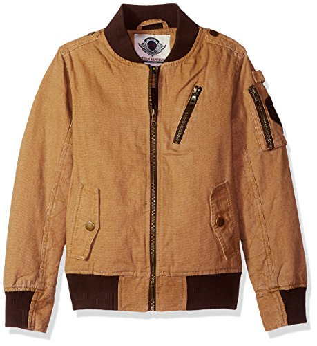 Urban Republic Boys' Big Aviator Cotton Canvas Jacket, Camel, 10/12