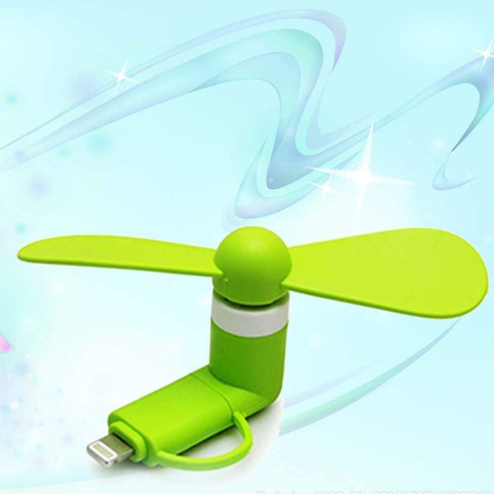 Fashion 2-in-1 Portable Mini Micro USB Cooling Fan for iPhone Android Orange