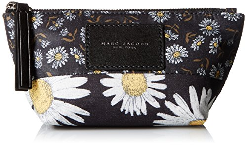 Marc Jacobs Small Trapezoid B.y.o.t. Mixed Daisy Flower Cosmetics Case, Black/Multi