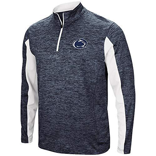 Colosseum Mens Penn State Nittany Lions Slide Quarter Zip Windbreaker Shirt - XL