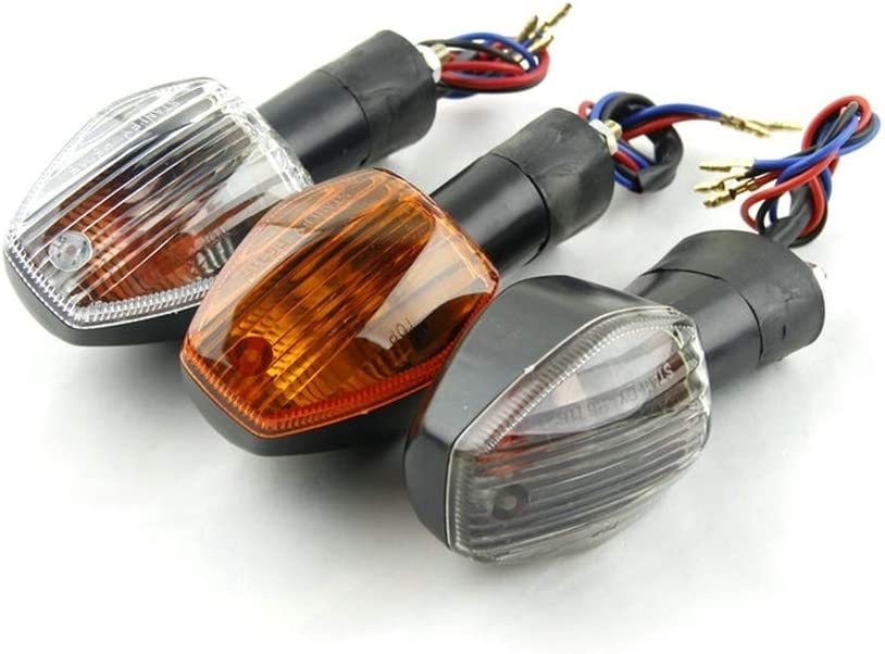 Color : Smoke Motorcycle Turn Signals Lights Indicators For Honda CBR600 F4i//F5 CBR1000 RR CBR600 CB900 Hornet 919 CB900 CB400 05-up CB1300 without KF-TURN