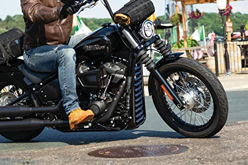 Kuryakyn 6465 Motorcycle Accent Accessory Gloss Black Precision Chin Spoiler for 2018-19 Harley-Davidson Softail Motorcycles