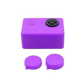 Carcasa protectora de silicona suave + tapas para lente para cámara SJCAM SJ4000 SJ5000 SJ7000 SJ9000