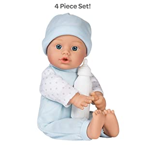 Adora Sweet Baby Boy - Peanut Doll Washable Soft Body Vinyl Play Toy Gift 11-inch Light Skin and Blue Eyes for Children Age 1+