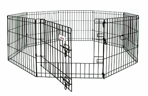 Petmate 48-Inch by 24-Inch 8 Panels Exercise Pen with Step Through -
