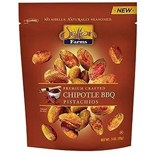 Setton Farms Pistachios Seasoned Kernels, No Shells, Chipotle BBQ, 3 oz Resealable Bag