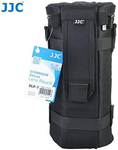 JJC DLP-7,Funda para Objetivo, 130x 310mm, Resistente al Agua, Correa, ColorNegro