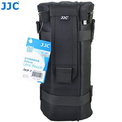 JJC DLP-7 Deluxe Lens Pouch Bag Case 130mm x 310mm for Sigma 150-500mm F5-6.3 DG OS HSM Tamron SP 150-600mm F/5-6.3 Di VC USD Sigma 150-600mm F5-6.3 DG OS HSM | C Sigma 150-600mm F5-6.3 DG OS HSM | S