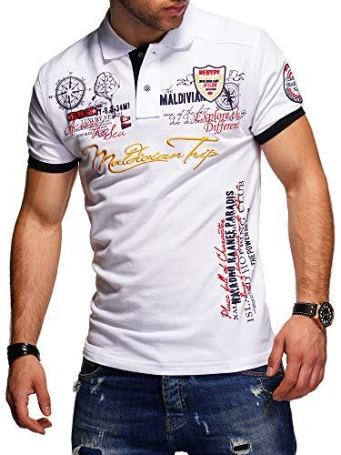 behype. Herren Kurzarm Polo-Shirt Bedruckt Maldivian 20-3020