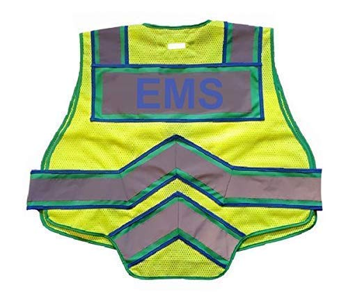 FIRE NINJA POLICE VEST-Class 2 Reflective - High Visibility Public Safety Vest - Bright Neon Reflective Colors - Double Breakaway Zipper - For EMS and Public Saftey Departments