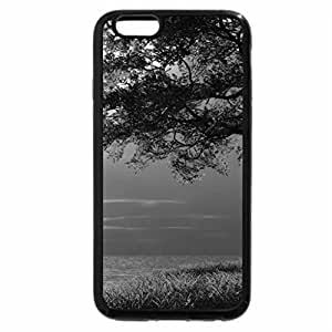 iPhone 6S Case, iPhone 6 Case (Black & White) - artistic snowy scene