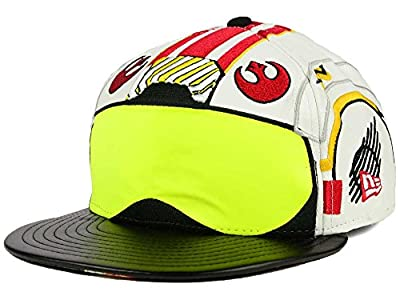 Star Wars Men's New Era Big Face 59FIFTY Fitted Cap Hat - White/Black