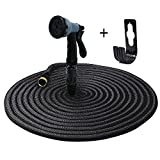 iLifeSmart 50FT Expandable Garden Hose Water Hosepipe With 8 Modes Spray Gun for Watering Flowers,Cleaning Cars,Cleaning Floors