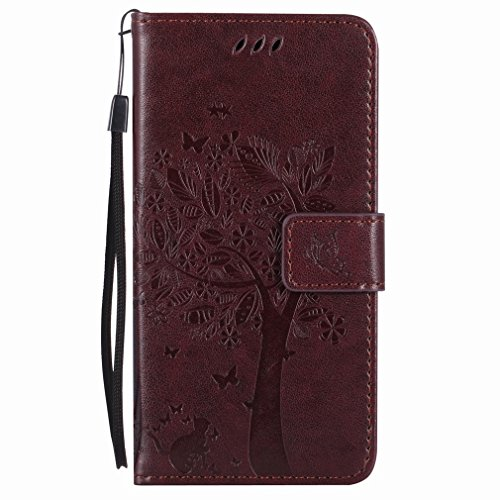 Yiizy Huawei Huawei Honor 7i X Shot Sleeve, Tree Design Drawing Flap Wallet Flip Cover Housing Case Premium Pu Leather Cover Shell Bumper Skin Protective Shell Case Stand Slim Slot Tar