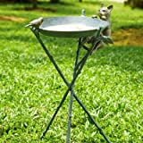 SPI Home 33562 Curious Cat and Bird Birdbath For Sale