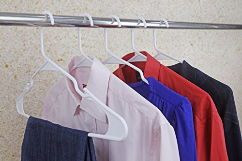 SMART ONYE Pack of 50 Best Standard Premium Plastic Hangers -White