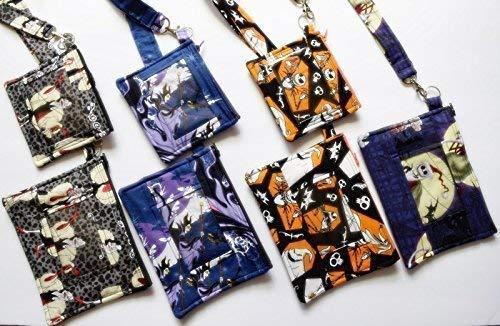 Disney Teen Jack - Disney Villain,ID Lanyard/XL or Regular Sized Pouch ID Holders,Park Pass Holder,Zippered Phone Case,Ursula.Maleficent,Jack Skellington Sally