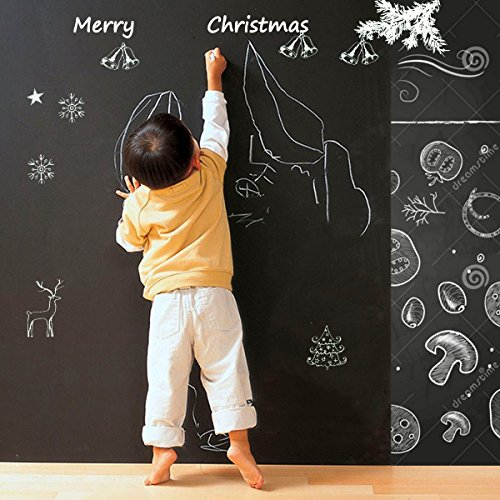 Cusfull Self-Adhesive Blackboard Removable Chalkboard Wall Sticker for Home,Office & Decor 17.7