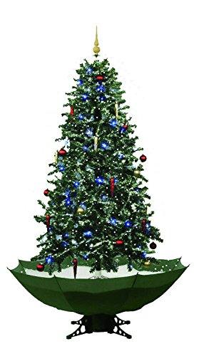 Schneiender Weihnachtsbaum 170 cm Schneefall Tannenbaum künstlicher Schnee (Grün)