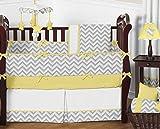 Sweet Jojo Designs Yellow and Gray Chevron Zig