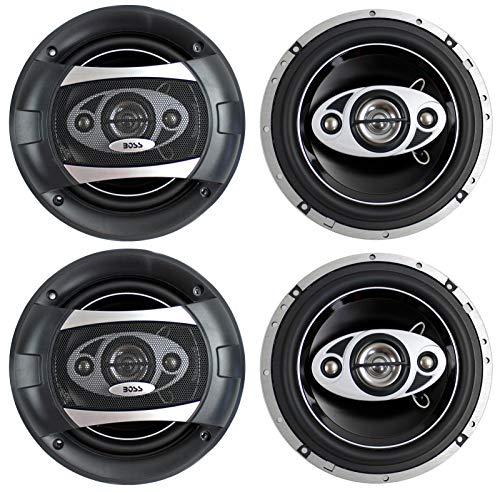 "4) NEW BOSS AUDIO P65.4C 6.5"" 4-Way 800W Car Audio Coaxial S"