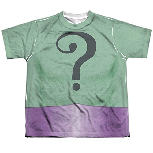 [Youth: Batman Classic Tv- Riddler Uniform Kids T-Shirt Size YM] (60s Costume Ideas For Boys)